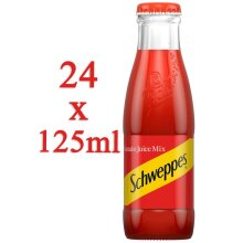 Schweppes Tomato Juice Mix in Glass Bottles 125ml x 24