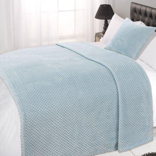 (Duck Egg Blue, Double - 150 x 200cm) Dreamscene Luxurious Waffle Honeycomb Blanket Throw (Large)