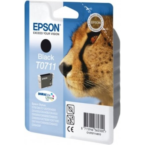 Epson C13T07114022 (T0711) Ink cartridge black, 245 pages, 7ml