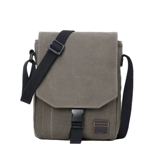TRP0470 Troop London Classic Canvas Messenger Bag   Buy Bags Online   Canvas Messenger Bags   leather canvas backpack