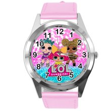 Leather Band Round Watch for LOL Dolls Fans