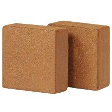 vidaXL 2x Coir Blocks 5kg 30x30x10cm Gardening Coconut Fibre Compost Brick
