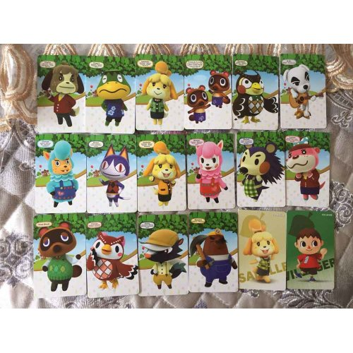 (Standard 18pcs Cards) Animal Crossing Series AMIIBO NFC TAG Cards for Switch WII U New3DS