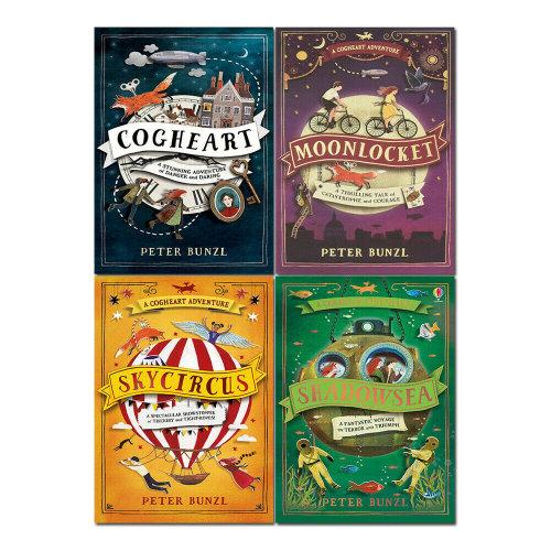 Peter Bunzl Shadowsea, Skycircus 4 Books Set Cogheart Adventure Series
