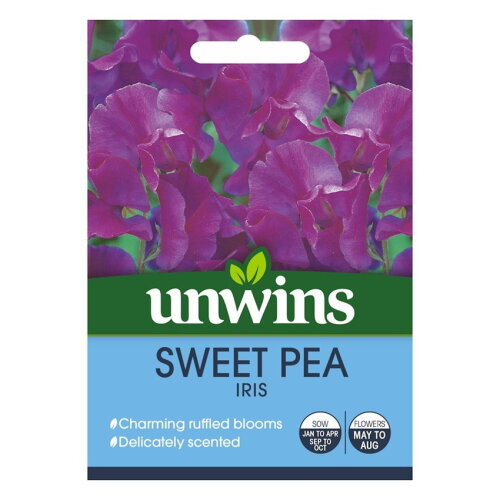 Unwins Pictorial Packet - Sweet Pea Iris - 21 Seeds