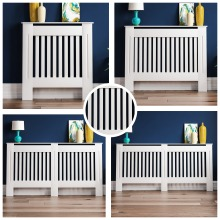 Home Discount Chelsea White Radiator Cover