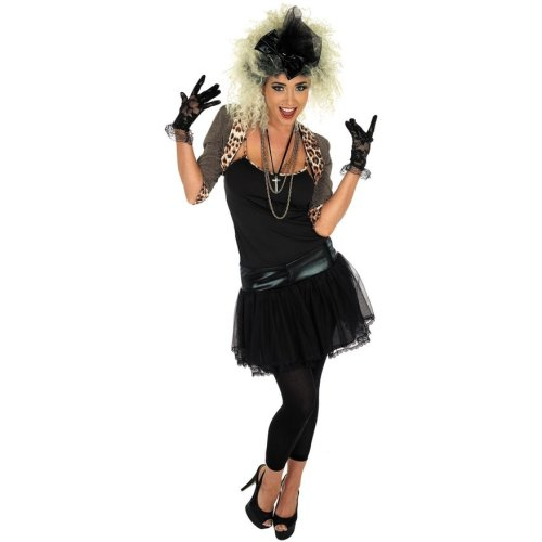 ANNI OTTANTA/'80 Pop Wild Child MUSICA Fancy Dress Costume MADONNA XL 20-22 Smiffys Nuove