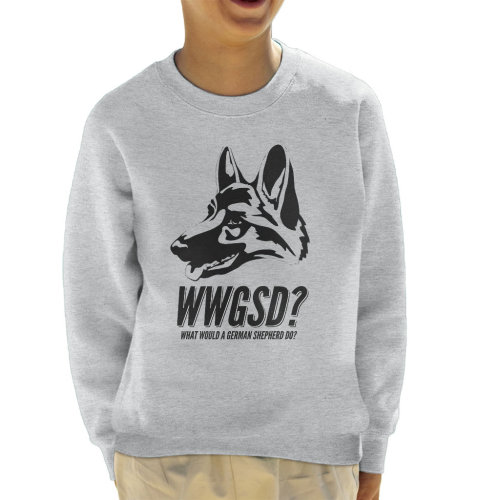 What Would A German Shepherd Do Kid's Sweatshirt
