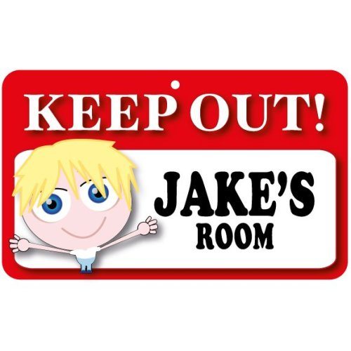 Keep Out Door Sign - Jake's Room
