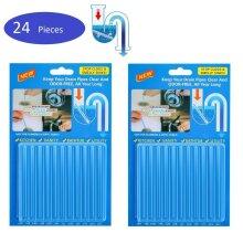 2pack (24Pcs) SANI STICKS Odor Drain Deodorizer Cleaner Sink Cleaning