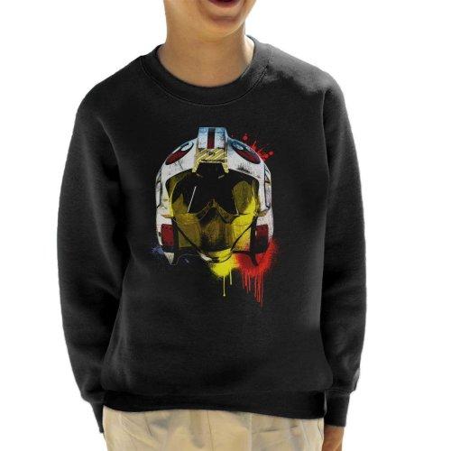 Original Stormtrooper Rebel Pilot Helmet Paint Splatter Kid's Sweatshirt