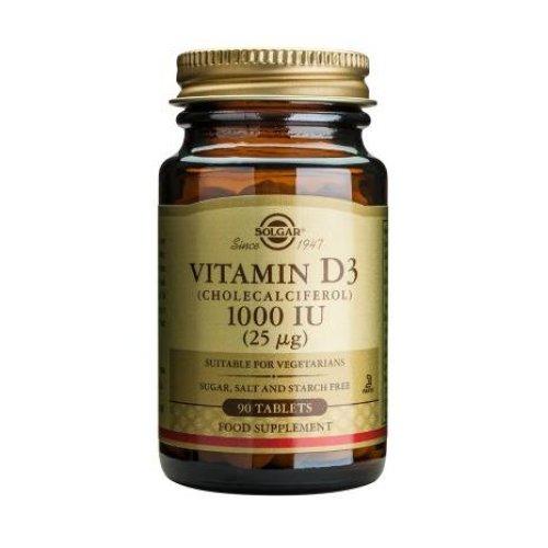 Solgar Vitamin D3 1000 IU Tablets, 90