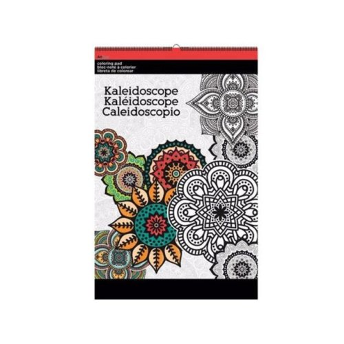 Kole Imports OT760-36 11 x 17 in. Kaleidoscope Large Coloring Pad - Pack of 36