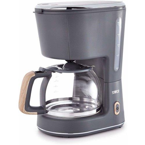Tower Scandi T13006G Coffee Maker Stylish Scandinavian Design, 900W