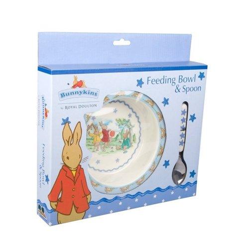 Shining Star Feeding Bowl and Spoon set - Bunnykins