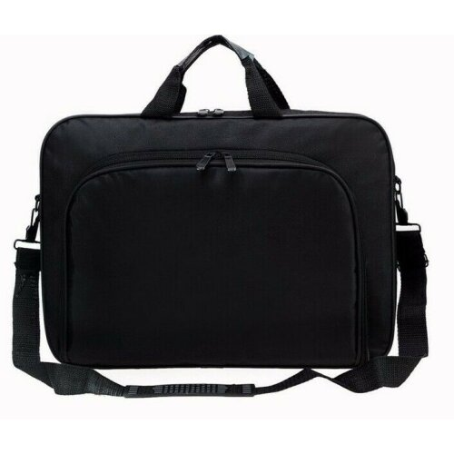 "Portable 15.6"" Black Laptop Shoulder Bag"