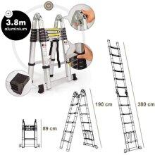 Telescopic Ladder Aluminium Folding Ladder Step Ladder EN131 Certified