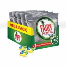 Fairy Platinum Dishwasher Tablets Lemon - 125 washes