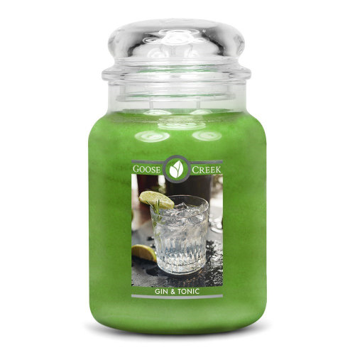 Goose Creek 24oz Large Scented 2 Wick Candle Jar Gin & Tonic