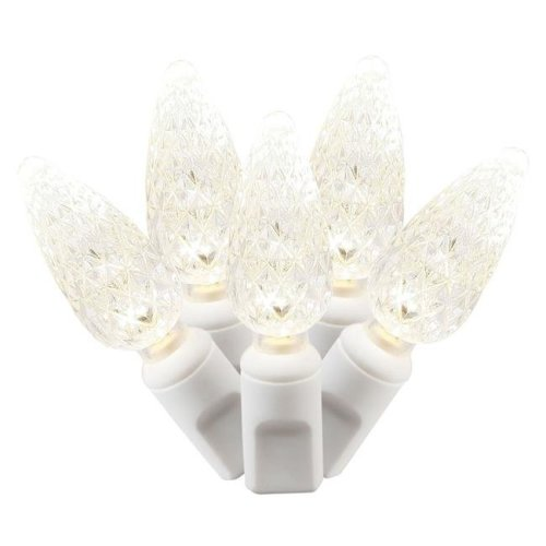 Vickerman X6W8501PBG LED White Wire End Connecting 25 ft. Long Light Set with Warm White Lights in Poly Bag