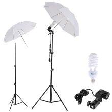 225W Photo Studio Umbrella Light Stand Bulb Continuous Lighting Lamp