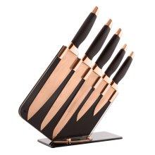 Tower T81532RD Damascus Knife Set | Rose Gold & Black Kitchen Knives