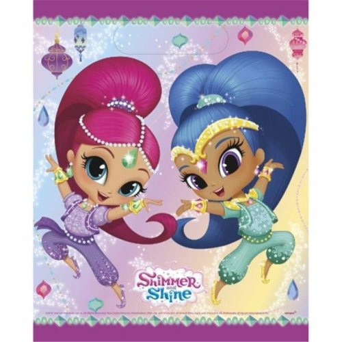 Shimmer and Shine 30350640 Shimmer & Shine Party Loot Bags, Pack of 8