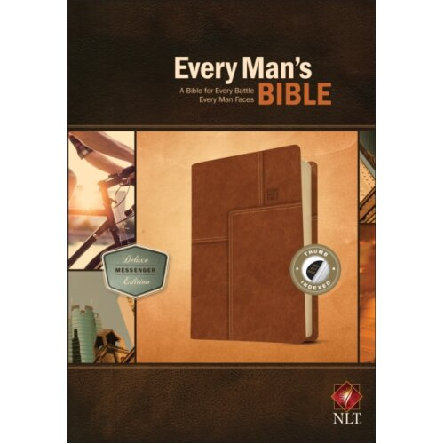 NLT Every Mans Bible Deluxe Messenger Edition by Arterburn & Stephen