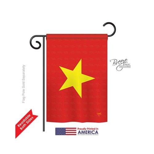 Breeze Decor 58325 Vietnam 2-Sided Impression Garden Flag - 13 x 18.5 in.