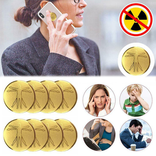 10 Pcs Mobile Phone Laptop 24K Radiation Protection Anti-radiation Stickers