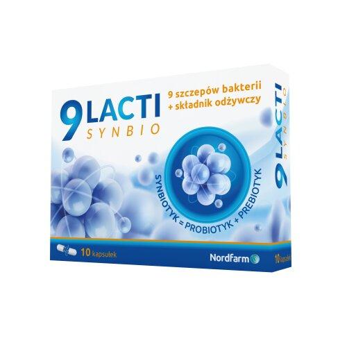 9 Lacti Synbio 10 kap NORDFARM 4Lacti PROBIOTYK PROBIOTIC + PREBIOTIC LINEX