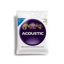 Martin 80/20 Bronze Acoustic Guitar Strings - Medium (Pack of 3)