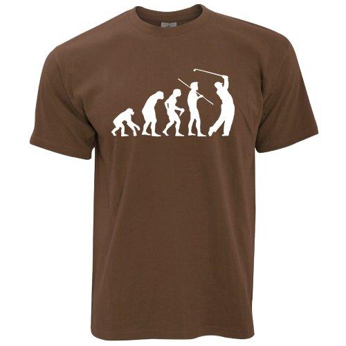 Novelty Golf T Shirt Evolution Of A Golfer Sport Range Putt Game