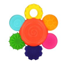 Sassy, Inspire The Senses, Flower Teether Rattle, 3+ Months, 1 Count