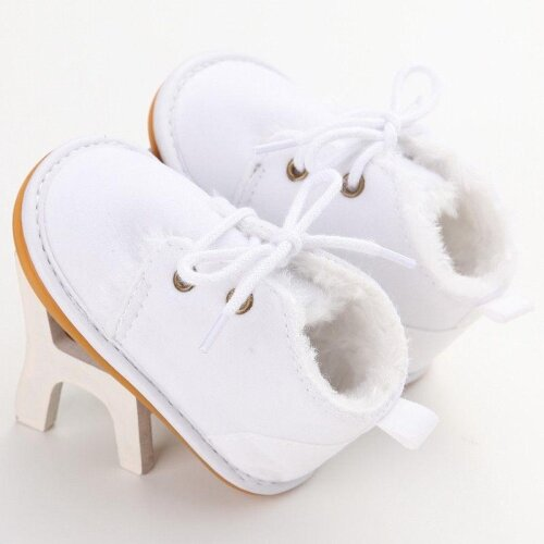 Infant Baby Snow Booties -Fur Boots Toddler Warm Strappy Shoes