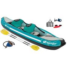 Sevylor Madison Inflatable Kayak Kit + 2 Paddles - Blue