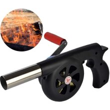 Hand Crank BBQ Fan, Portable Air Blower for Outdoor Barbecue