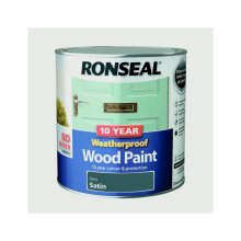 10 Year Weatherproof Satin Wood Paint, 2.5l Grey, 2.5l Grey, By Ronseal