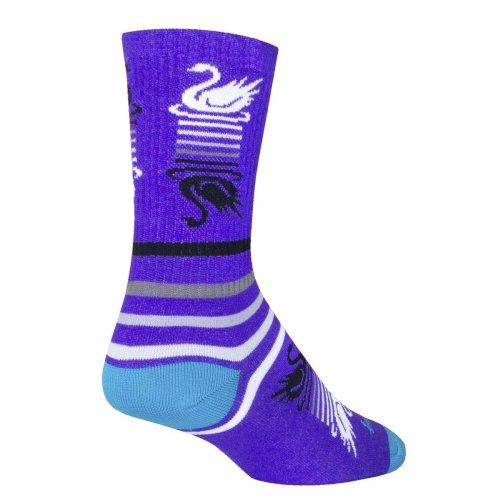"Socks - Sockguy - 6"" Crew Swan Song L/XL Cycling/Running"