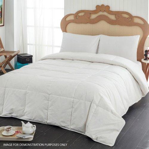 (13.5 Tog, Single (135cm x 195cm)) Luxury Duck Feather Down Duvet Comfortable Filling Quilt Bedding 13.5 - 15 Tog