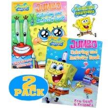 Nick Jr. Spongebob SquarePants Coloring and Activity Book Set (2 Books ~ 96 pgs each)