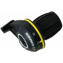 SRAM T3 Bandix 3 Speed Gripshift Shifter - Black & Yellow - Including Gear Cable