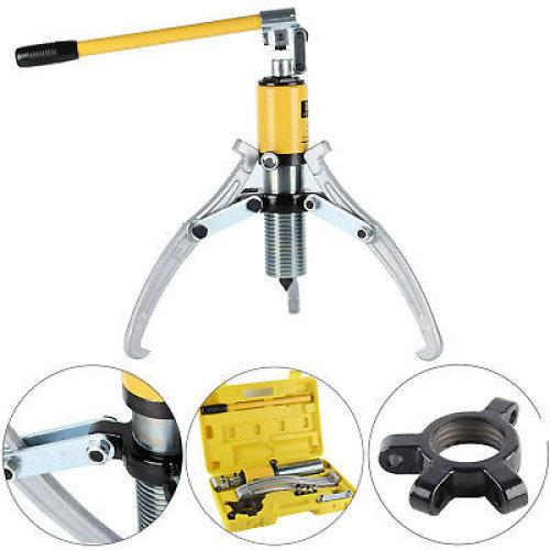 15 Ton Hydraulic Puller Bearing Hub Separator Garage Tool Set Kit