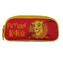 pen case Lion King 23 x 7 x 10 cm red