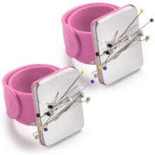 Magnetic Wrist Sewing Pincushion, Pin Cushion Holder for Hair Clips