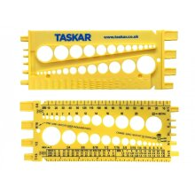 Taskar Nut, Bolt & Screw Measuring Gauge Imperial & Metric Size & Thread Pitch