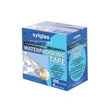 Sylglas Aluminium Finish Waterproofing Tape 100mm/4in 4m Roll SYLAT100