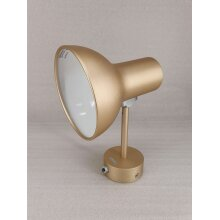 Anglepoise Type 75 Mini Adjustable Metallic Wall Light - Gold - Used