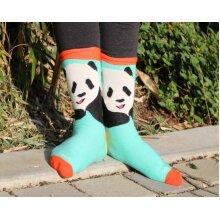 Teal Panda Sock