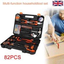 82Pc Hand Tool Kits Home Repair Daily Maintenance Pliers Socket Set